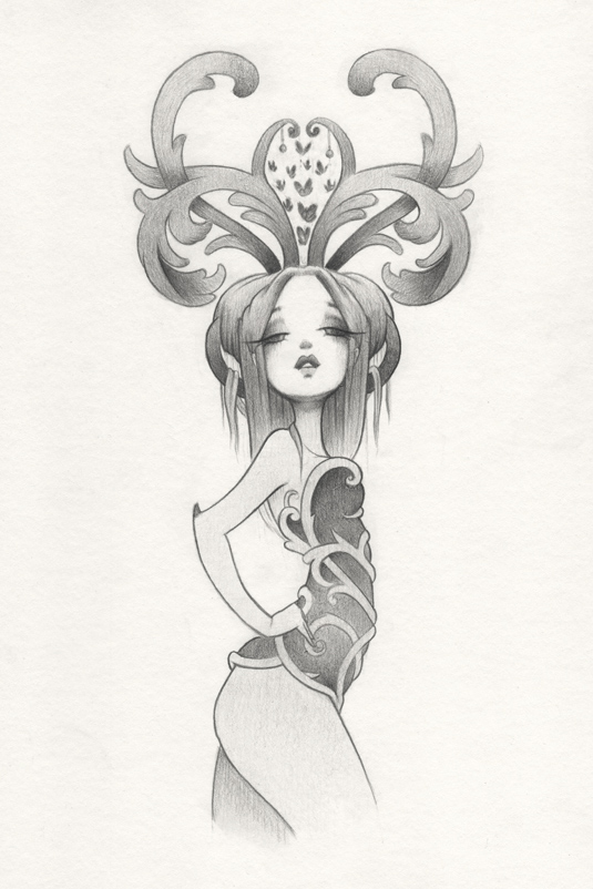 'Collector' Pencil Drawing