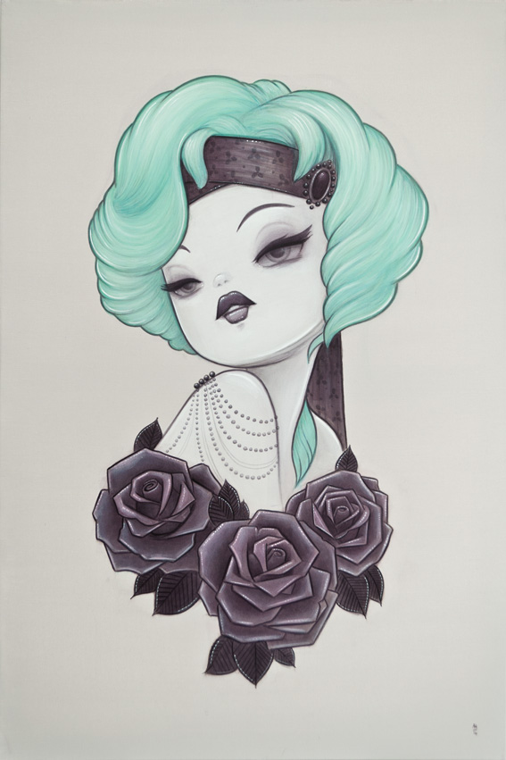 1920s Pin Up Inspired Painting – Toots – Anarkitty