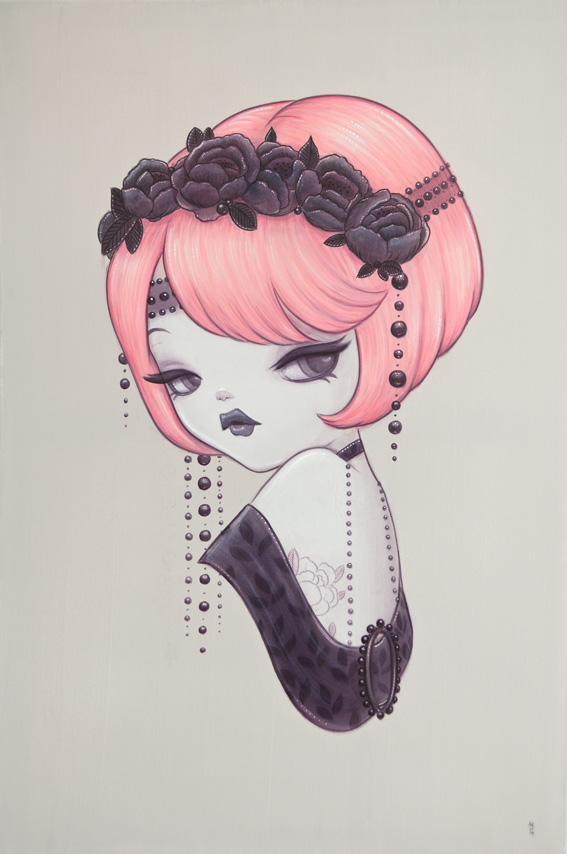 Sweety – Original Paintings Inspired By 1920's Pin-ups And Their Beauty