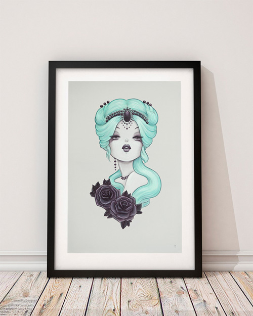 Limited Edition Print 'Candy' 1920's Pin-up Art