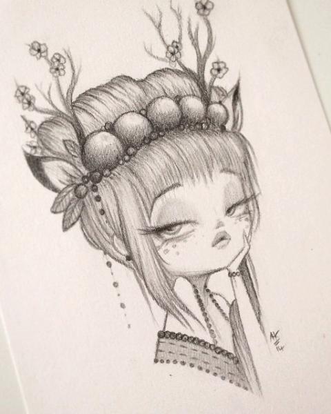 Original Pencil Drawing : My Little Dear