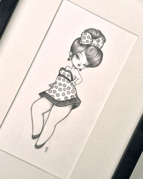 Original Pencil Drawing : My Tiny Dancer