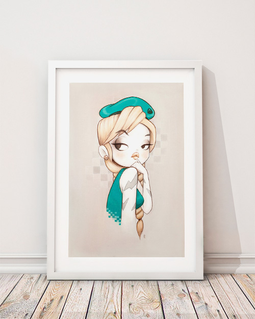 Limited Edition Art Print : Cami White